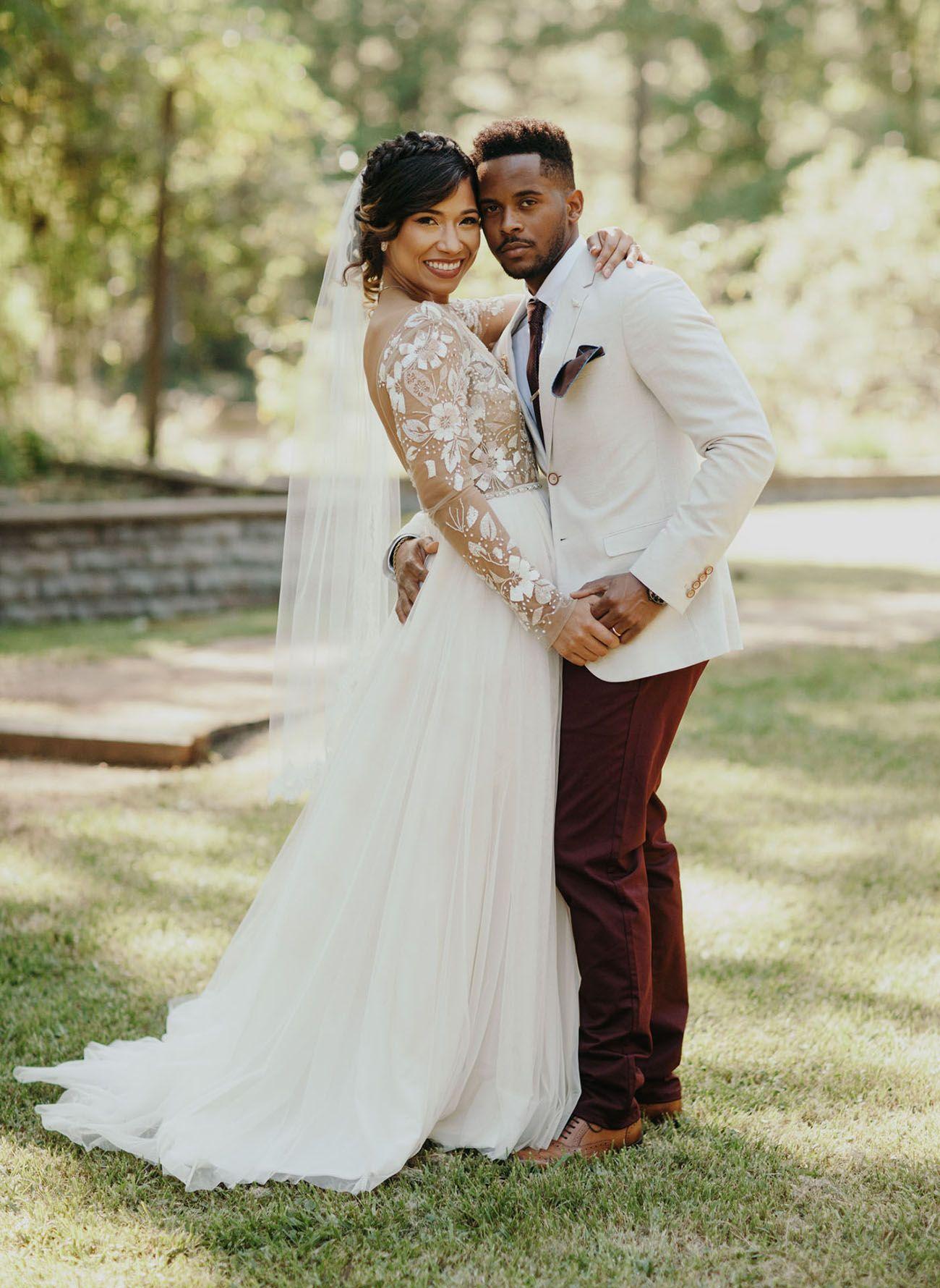 Burgundy + Cream Rustic Chic Texas Wedding Wedding suits