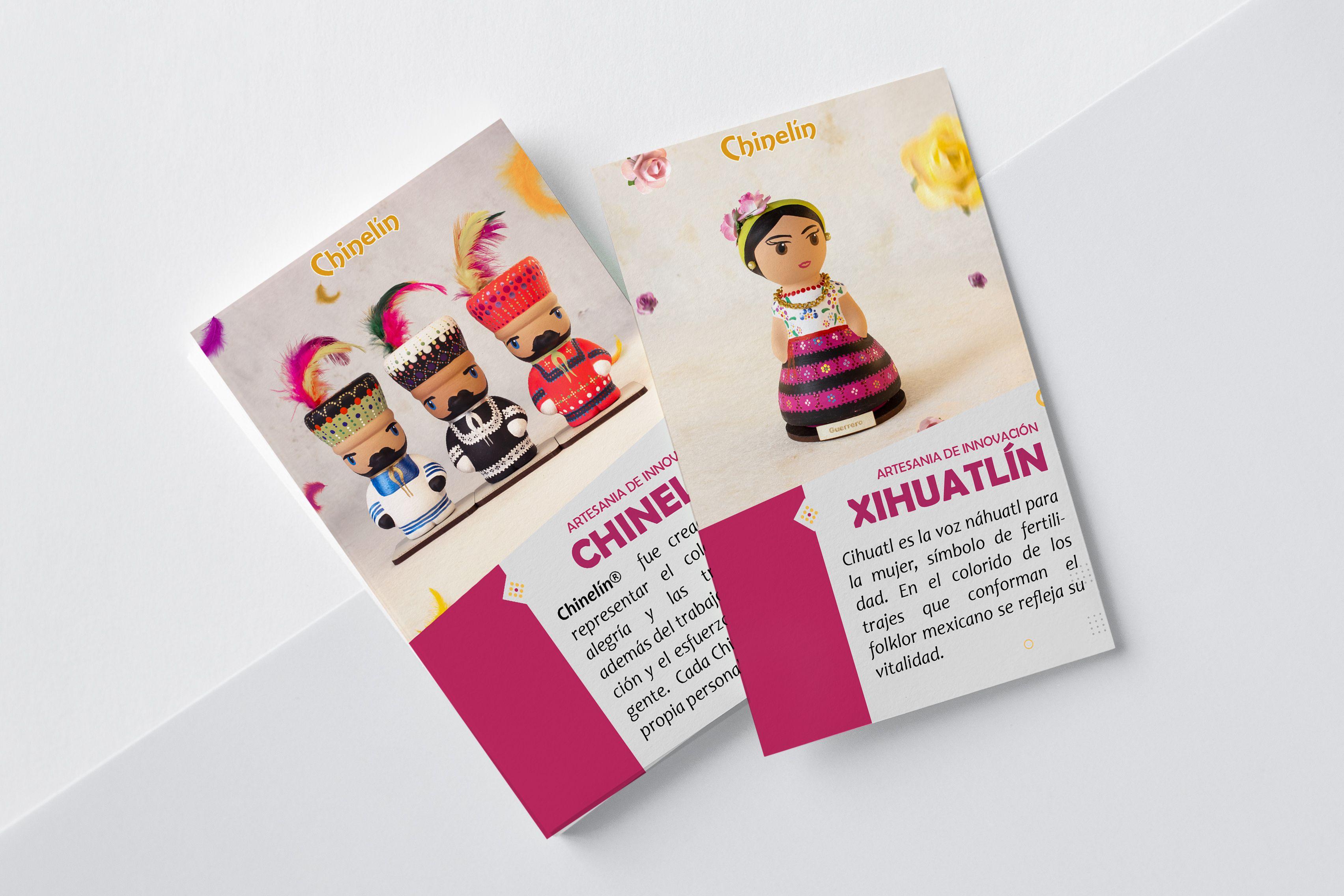 """Diseño grafico de artesanía mexicana """"Chinelín"""" una"""