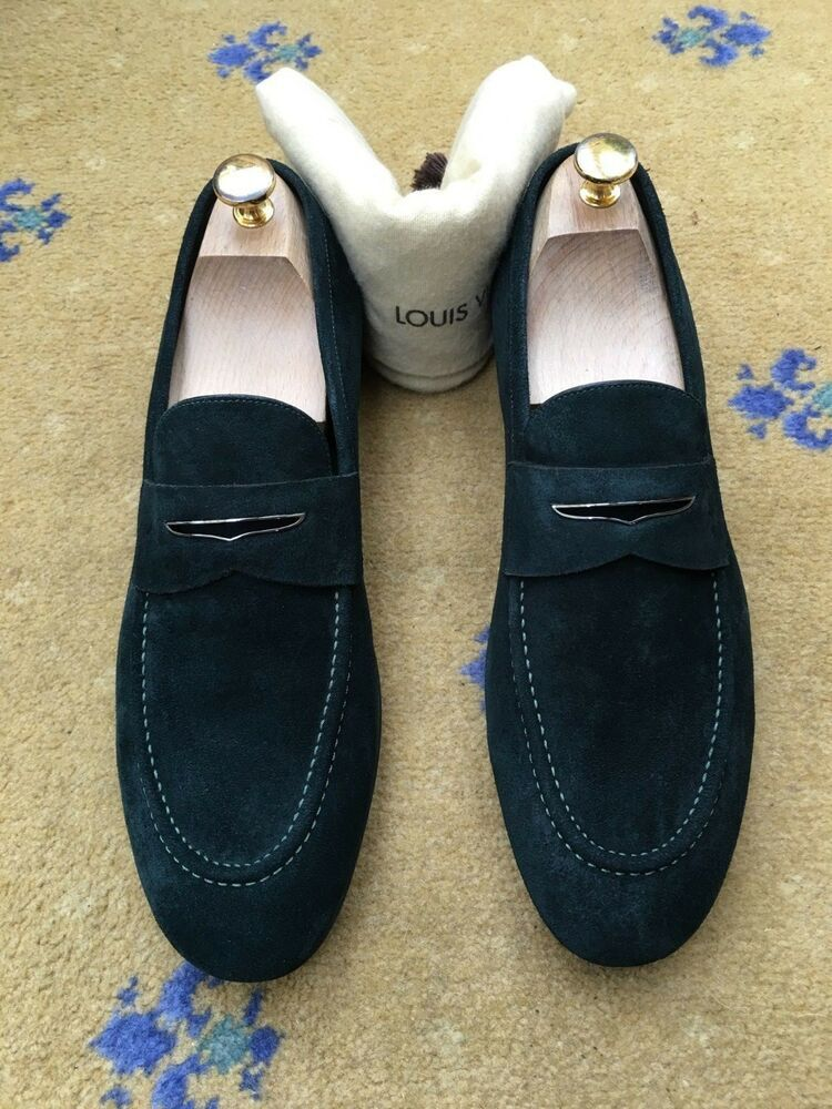 cbf7eaaa0d2 eBay #Sponsored Louis Vuitton Mens Green Suede Shoes Loafers UK 9 US ...