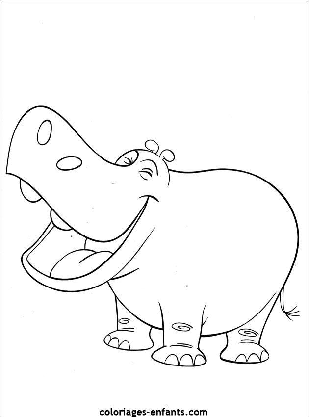 Coloriage D Hippopotames A Imprimer De La Rubrique Animaux Sur Coloriages Coloriage Animaux Coloriage Jungle Coloriage Hippopotame