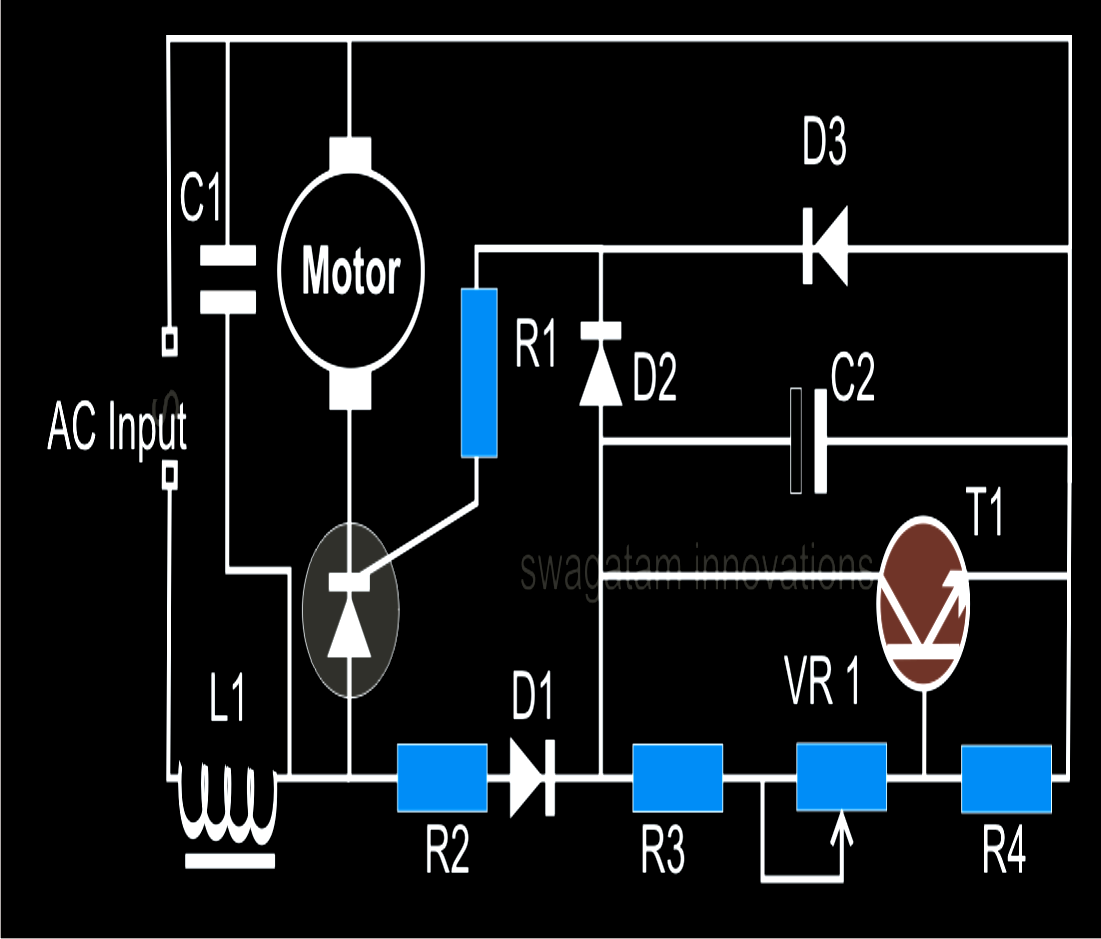 Here We Learn A Simple Ac Single Phase Motor Speed Controller Step 3 Electronics By Building Circuits From Circuit Diagrams Using Closed Loop Concept
