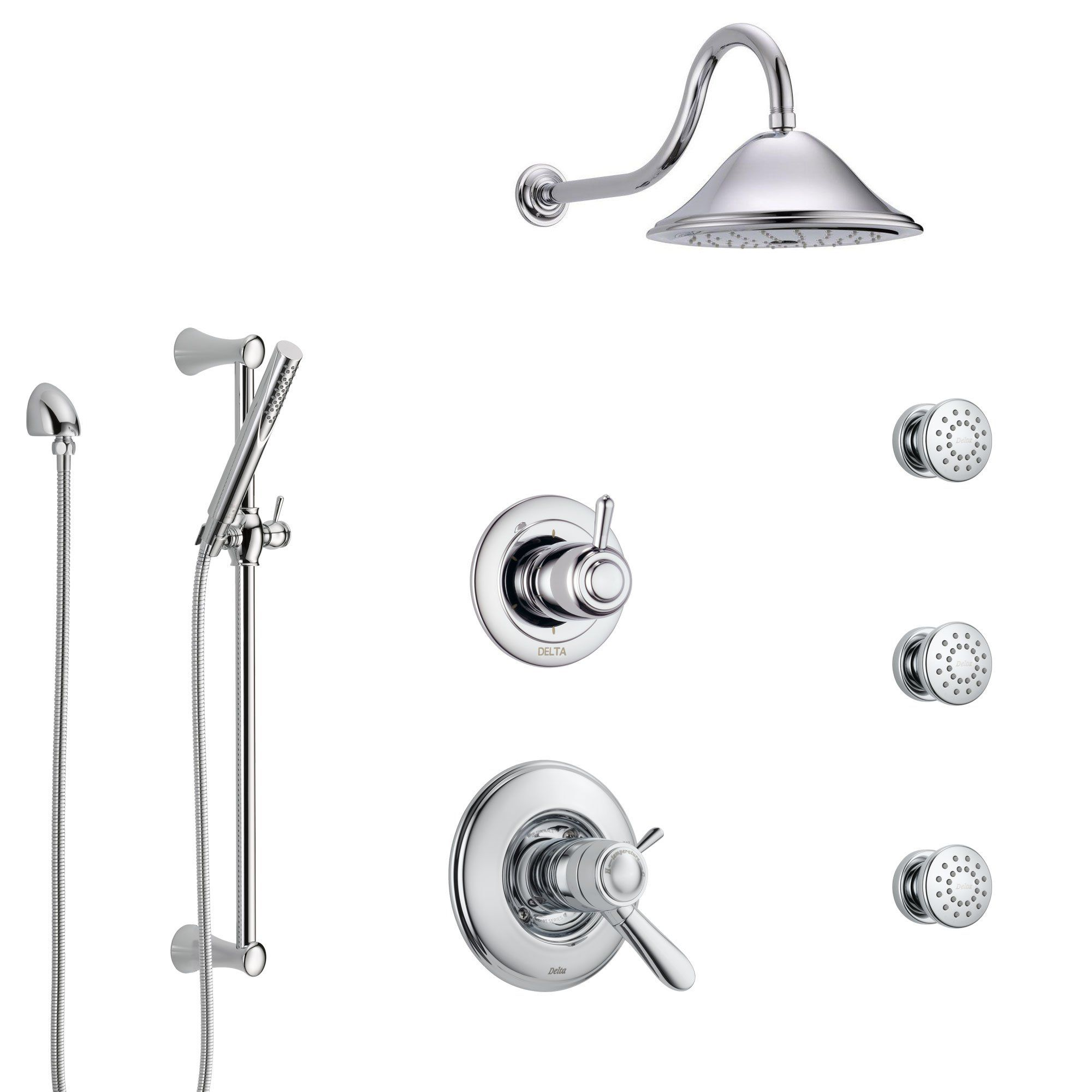 Delta Lahara Chrome Shower System With Dual Thermostatic Control