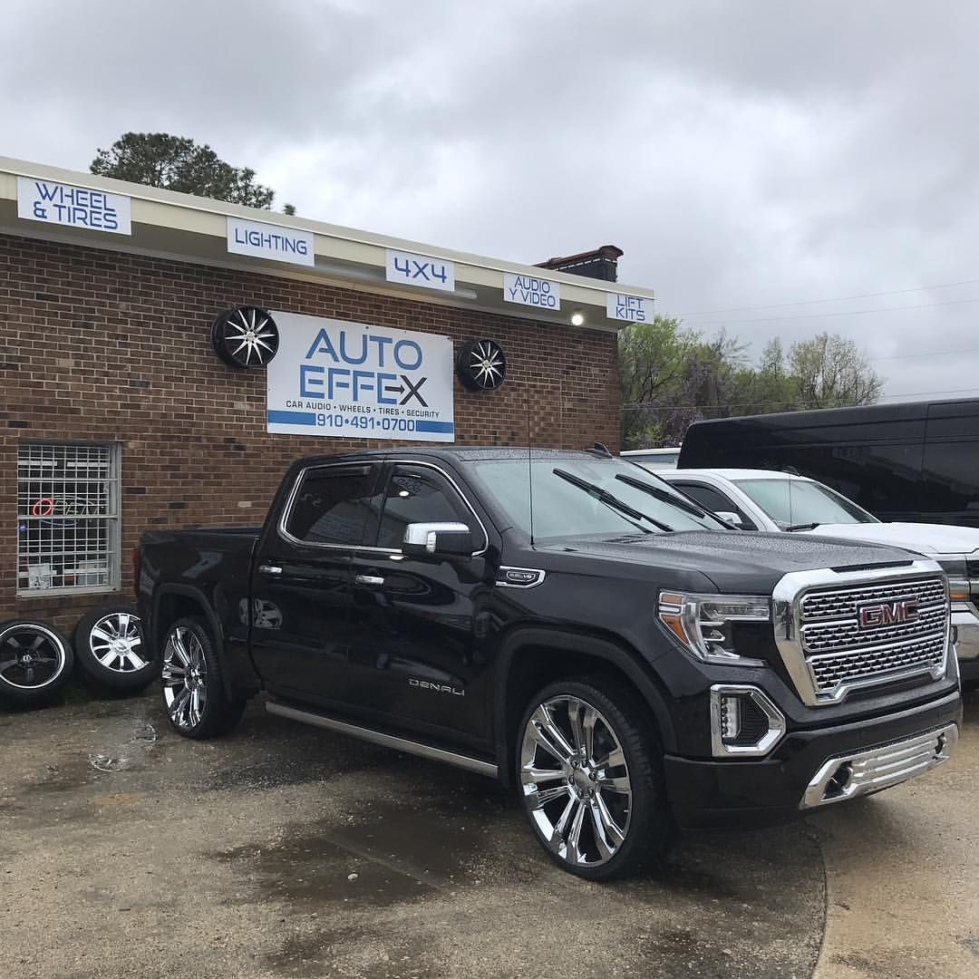 Rain Or Shine Looking Fine As Wine 2019 Gmc Denali Got Hooked Up With A Set Of 26s To Compliment The Chrome Gmc Trucks Sierra Gmc Trucks Gmc Denali Truck