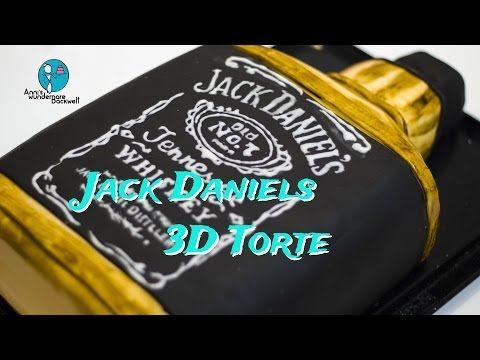 Jack Daniels 3D Torte - Jack Daniel's 3D Bottle cake - [motivtorte][backvideo] - YouTube