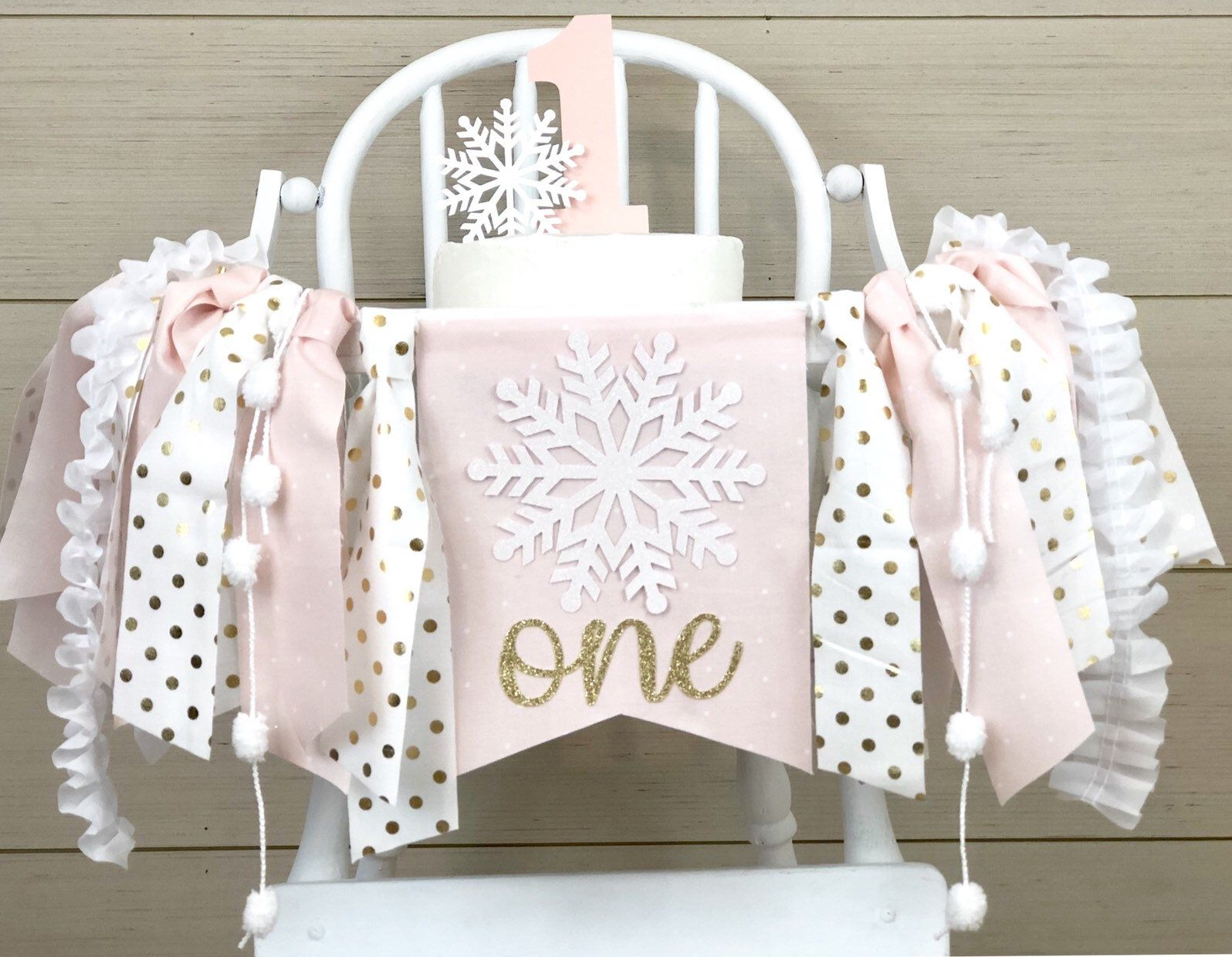 Photo of Winter Onederland High Chair Banner| | 1st or 2nd Birthday Party| Matching Snowflake Cake Topper and Confetti