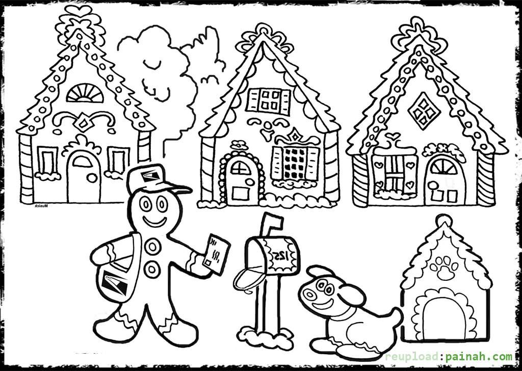 Gingerbread House | Coloring pages, House colouring pages ...