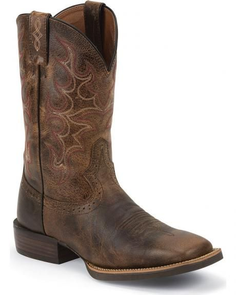 Feud Absurd be quiet  Justin Silver Cattleman Cowboy Boots - Square Toe | Stile di vita