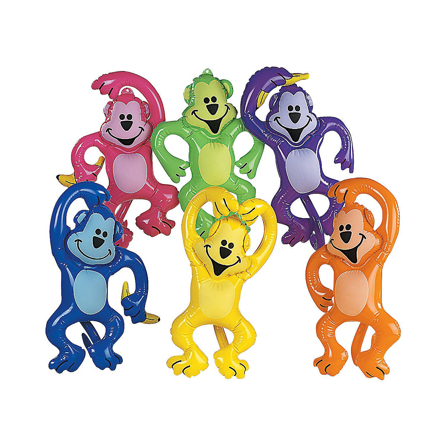 Inflatable Neon Monkeys Orientaltrading Com 20 21 Per Dozen Purple Monkey Party Toys Toy Monkey Monkey Birthday