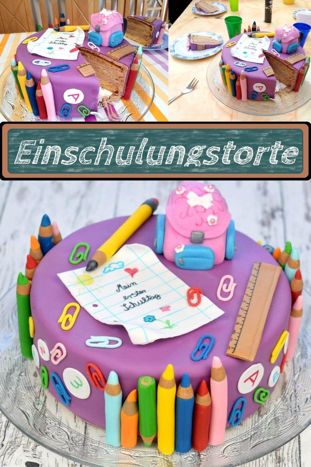 Tolle Bunte Einschulungstorte Lieblingsgeschmack De Rezept In 2020 Einschulungstorte Kuchen Einschulung Torte Einschulung