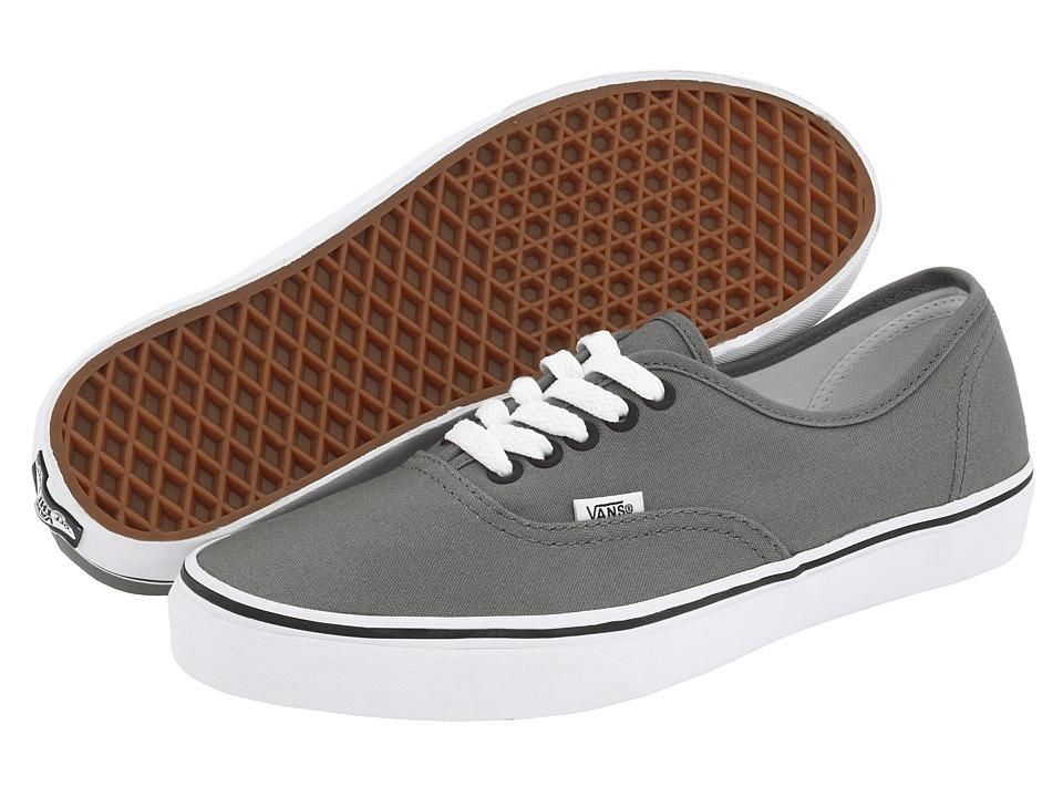 mens vans grey & black authentic trainers