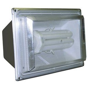 Lights Of America 65w Dusk To Dawn Fluorescent Outdoor Wall Light