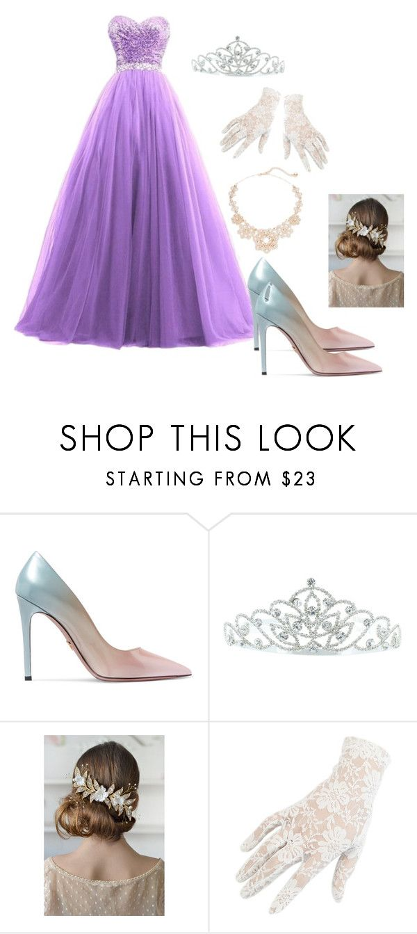 """""""Princess Gown"""" by brauerisabelle on Polyvore featuring Prada, Kate Marie, Black and Kate Spade"""
