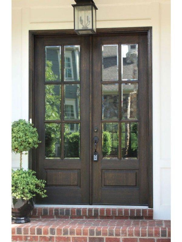 Mahogany Alexandria Tdl 6 Lite Double Door House Exterior Exterior Doors Beautiful Front Doors