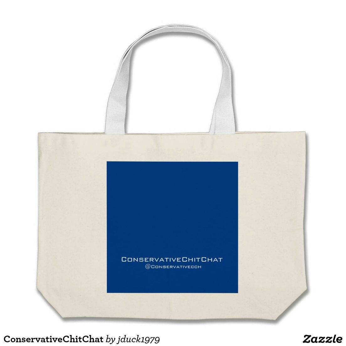 ConservativeChitChat Large Tote Bag