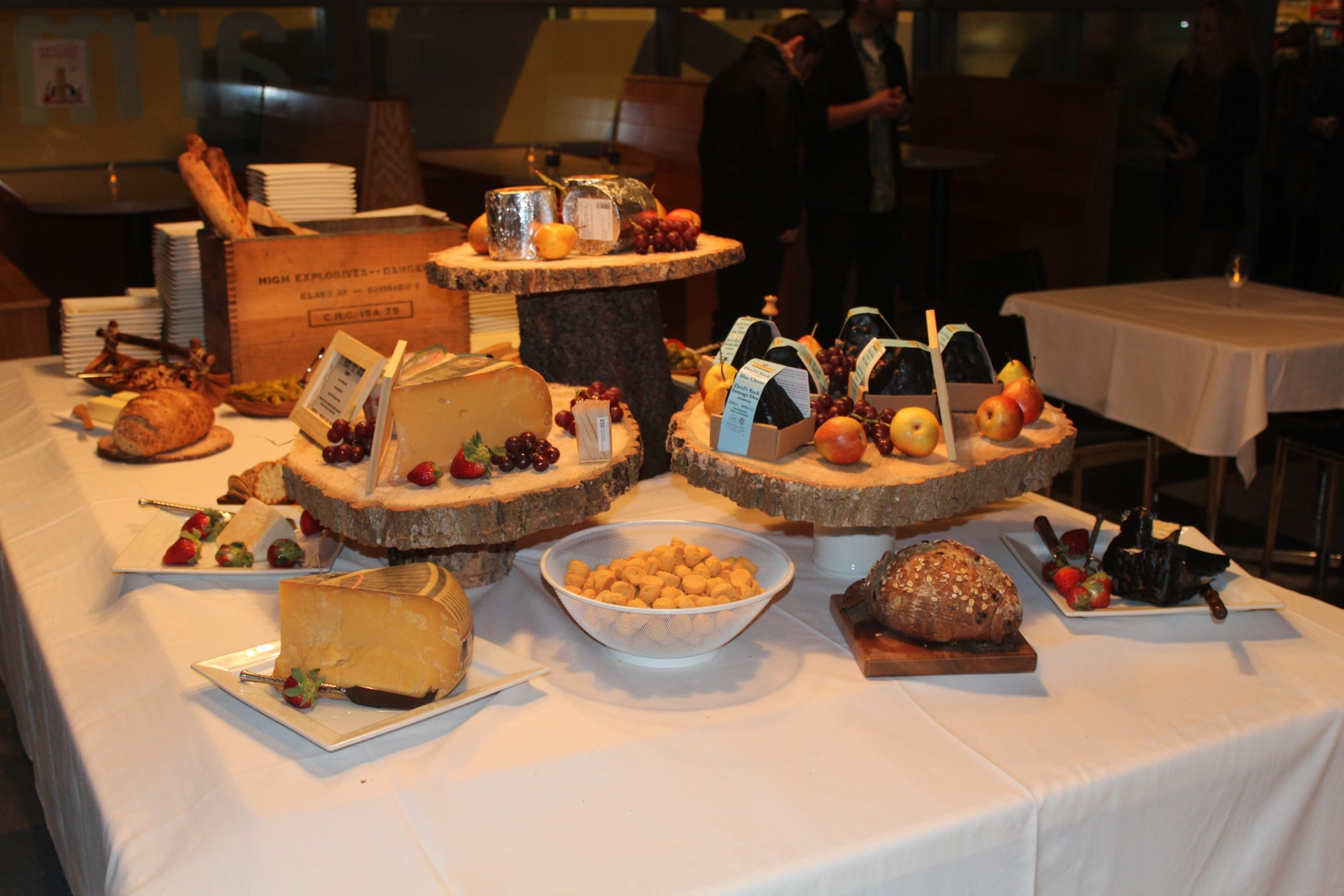 Rustic Wine And Cheese Table