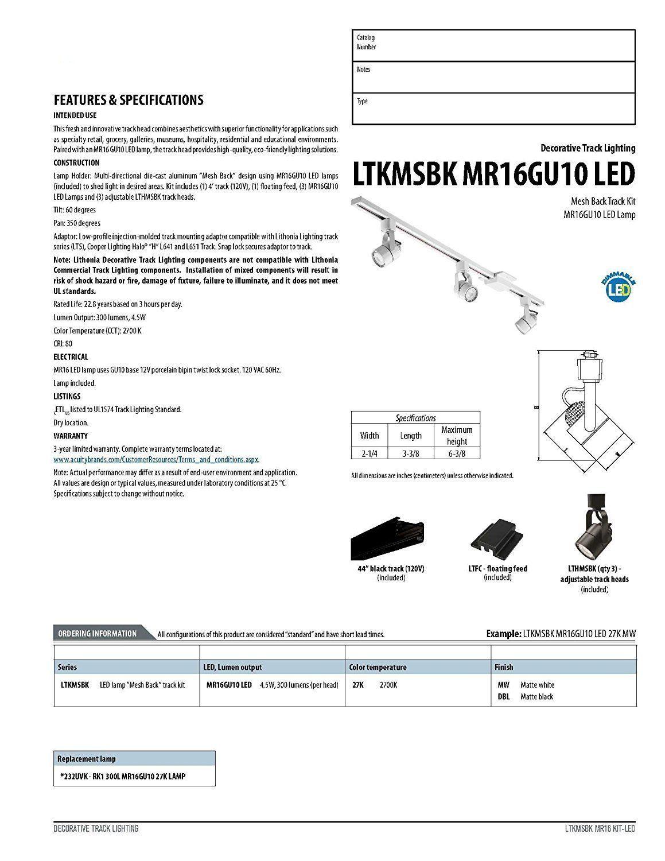 Lithonia Lighting Ltkmsbk Mr16gu10 3r Bn M4 Mesh Back 3light Brushed Nickel Round Track Kit Read More At The Image Link It Lithonia Lighting Lamp Lamp Decor