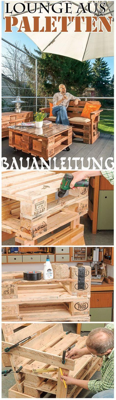 Gartenmöbel aus Europaletten Pinterest Pallets, Upcycling and - gartenmobel selber bauen anleitung