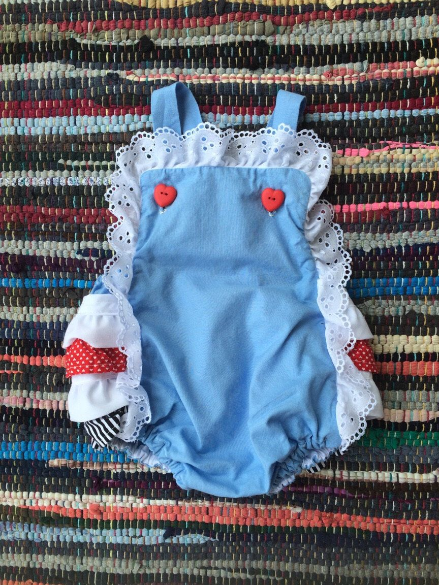 Alice In Wonderland Vintage Baby Romper By Shajocreations On Etsy
