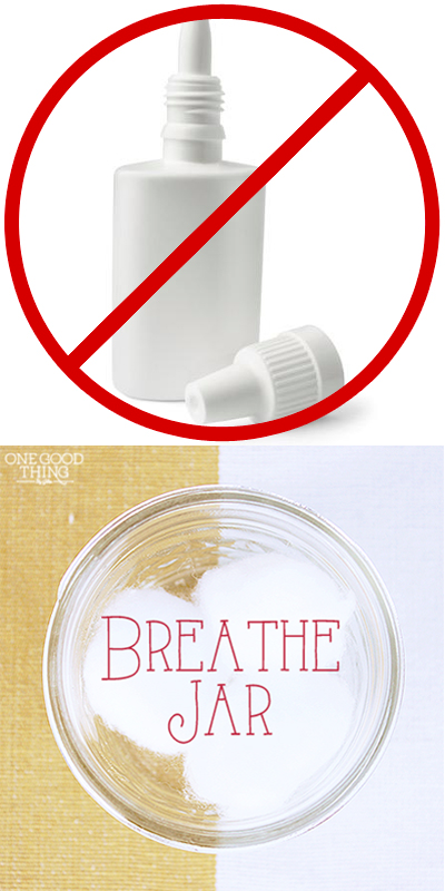 Relieve Sinus Congestion Make Your Own Breathe Jar