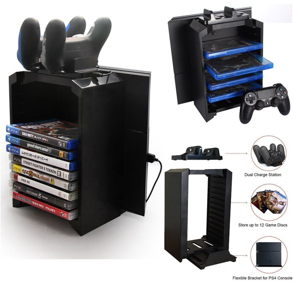 Multifunactional 5v Game Tower Disk Storage Stand Kit Controller