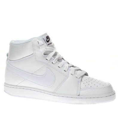 Nike Trainers Shoes Womens Backboard 2 Mid White   Shoes