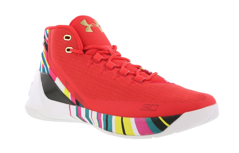 buy online 4a128 33700 New UA Curry Shoes Under Armour Curry 3 CNY Chineses New Year 2017 Rocket  Red Aluminium Black