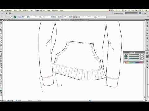 Fashion Ribbing Using Illustrator 2 Ways Dashed Lines The Blend Tool Digital Fashion Illustration Fashion Illustrations Techniques Blend Tool