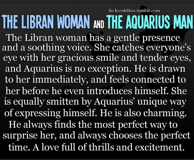 Libra aquarius romantic compatibility