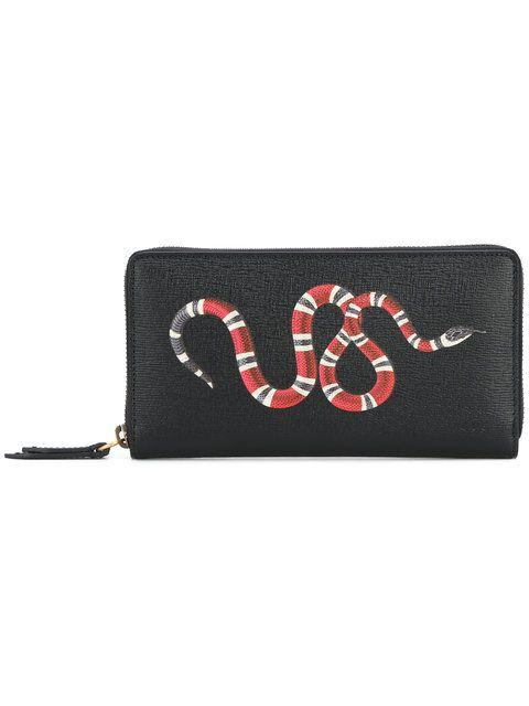 6c3ca4608b9b43 GUCCI snake print continental wallet. #gucci #wallet | Gucci Men ...