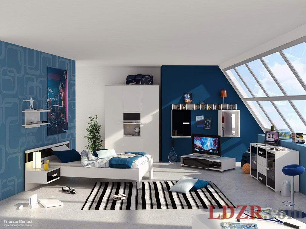 Bedrooms For Gamers | Bedroom Pictures Gallery You Will Find Contemporary  Teenage Bedroom .