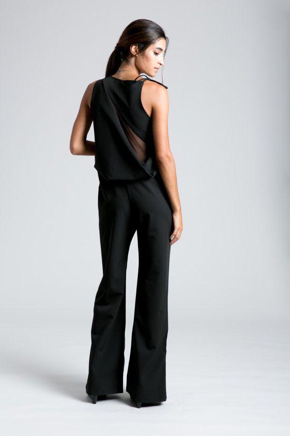 Formal Jumpsuit, Black Jumpsuit, Party Dress, Long Pants ...