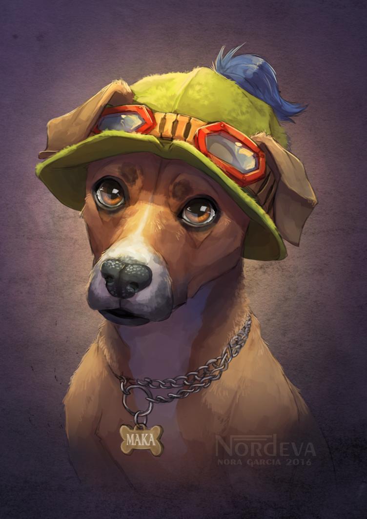 Maka - pet portrait by Nordeva on DeviantArt