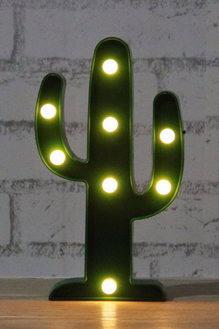Led Verlichting Cactus Cactus Led Light Cactus Cactus Bedroom Cactus Decor Cactus Light
