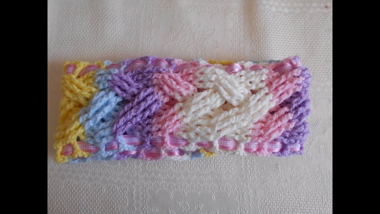 Diadema para el cabello a crochet paso a paso adornos - Diademas de ganchillo ...