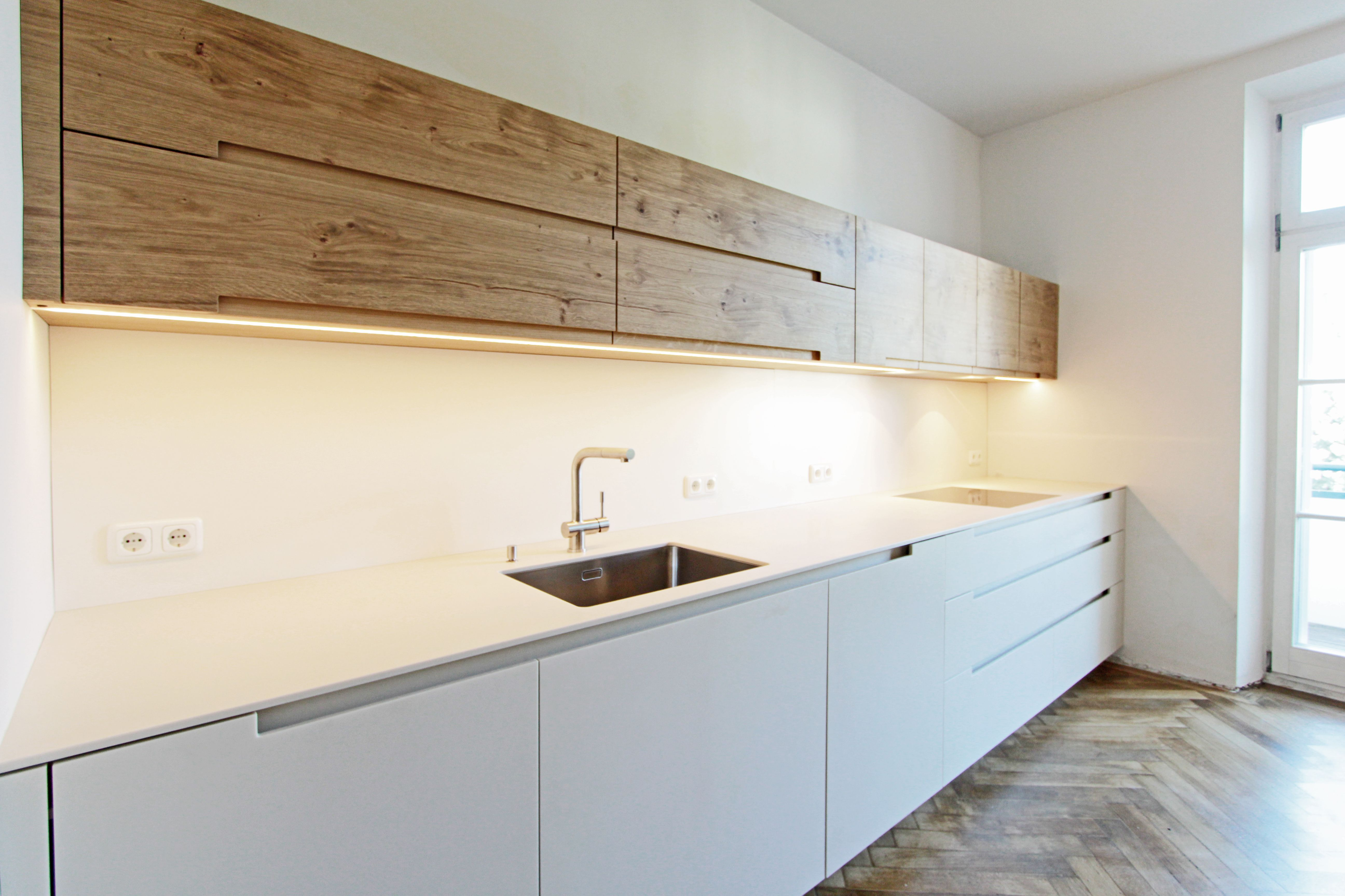 interior design, küche mit griffmulden, münchen