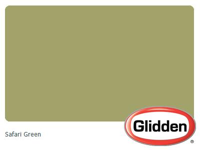 Safari Green Paint Color Glidden For Kitchen Walls
