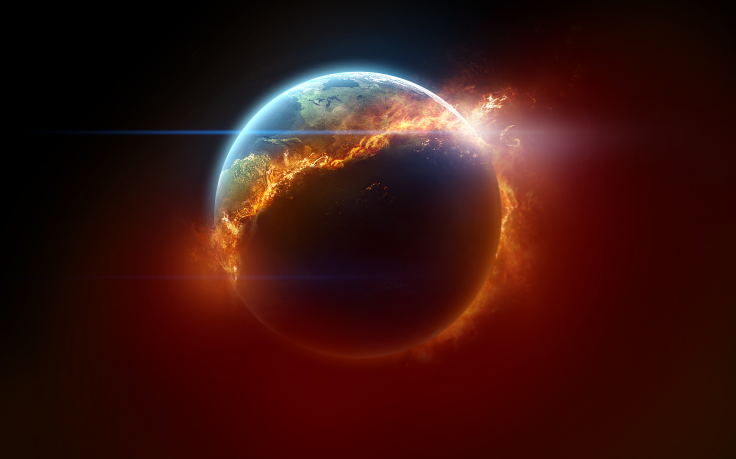 Planet Fire Space Art Earth Burning Hd Wallpaper Desktop Background Planets Wallpaper Space Art Fire And Ice Wallpaper
