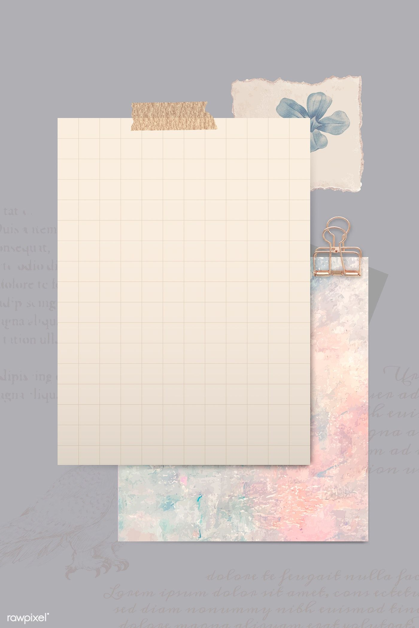 Download Premium Vector Of Brown Paper With Washi Tapes Template Vector In 2020 Paper Background Design Instagram Frame Template Instagram Frame
