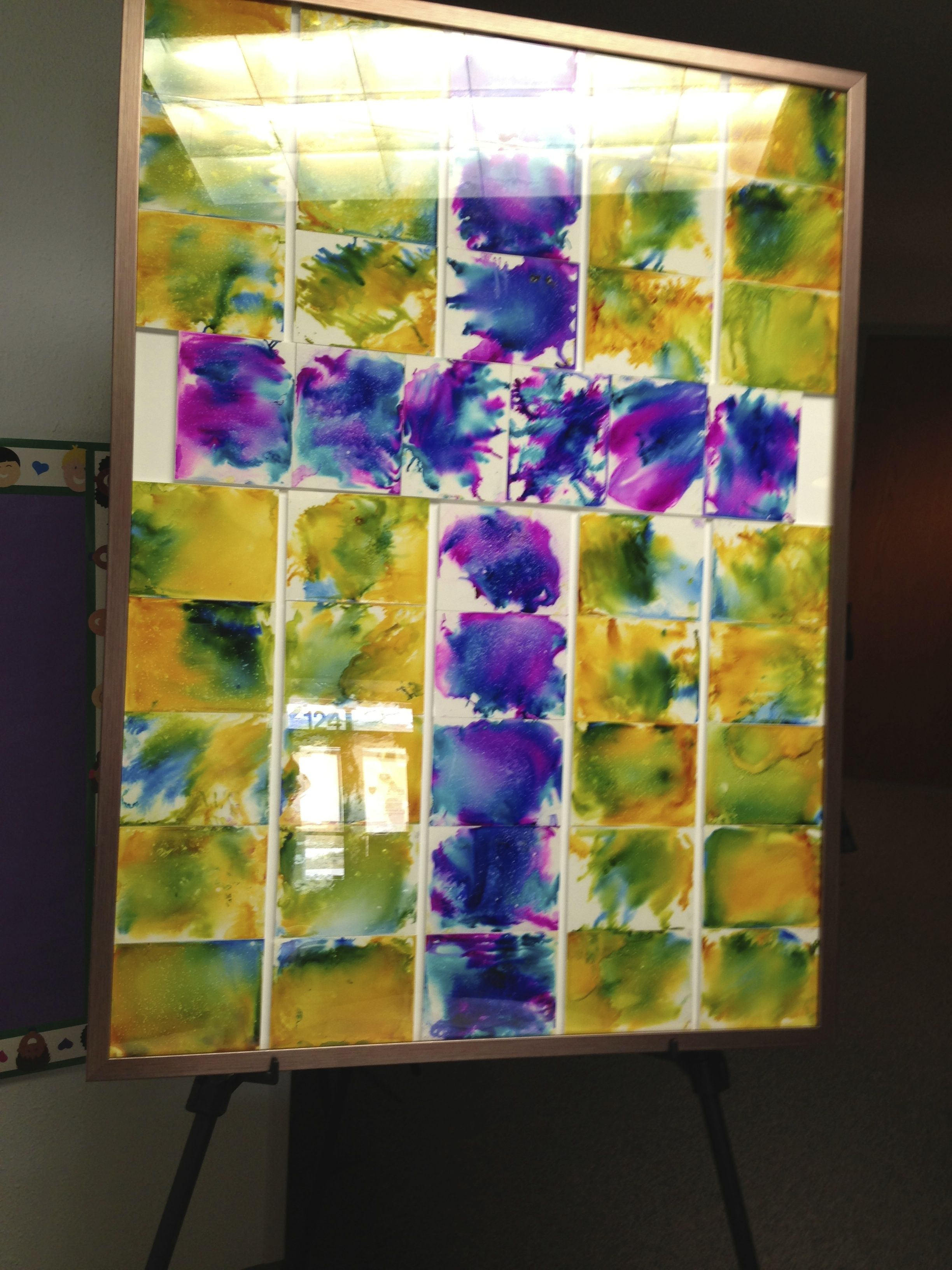 2nd Grade Art Project For Our Annual Silent Auction School