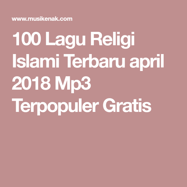 free download lagu mp3 religi terbaru 2018
