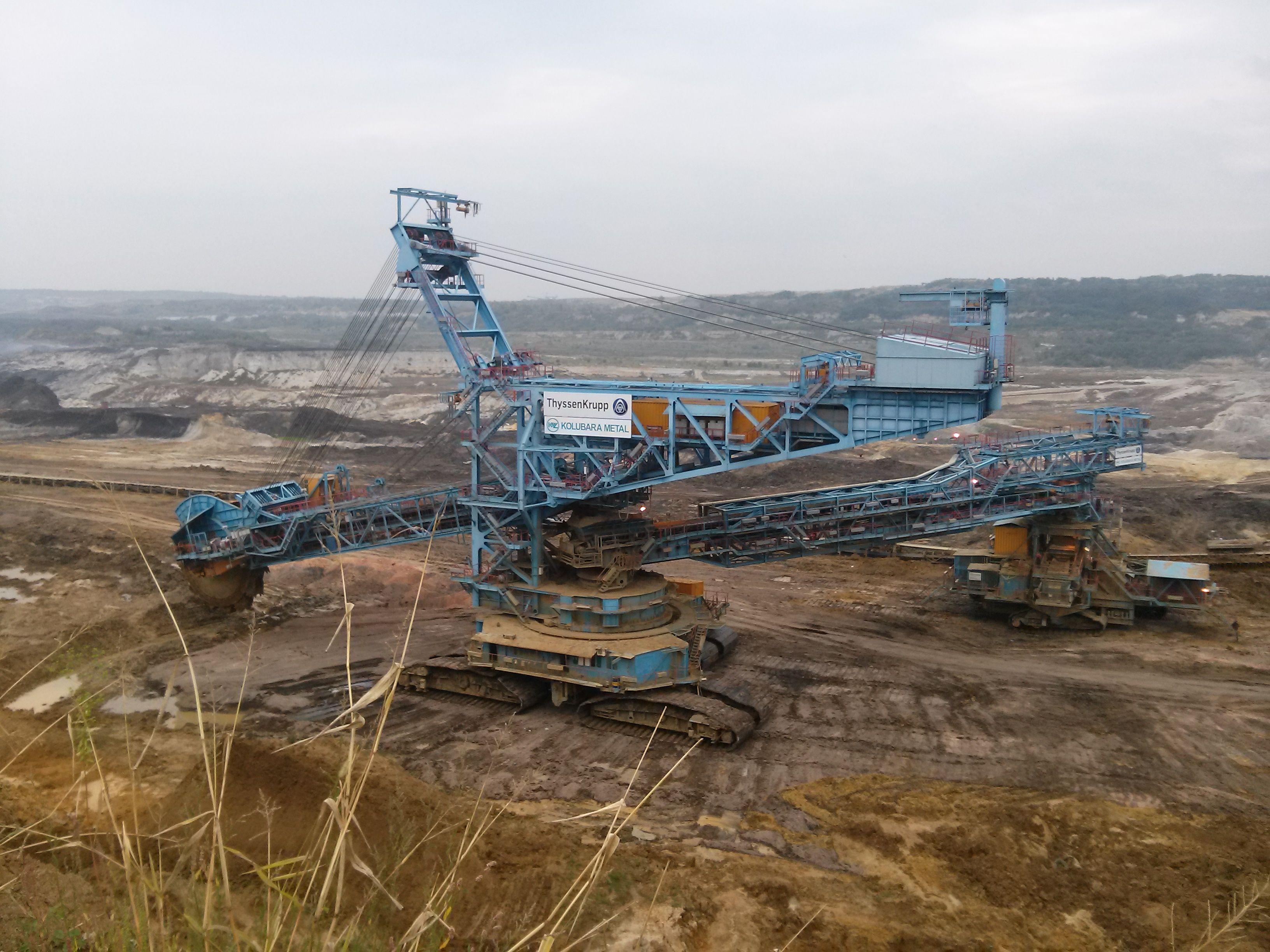 """bucket wheel excavator in a coal mine """"Kolubara"""""""