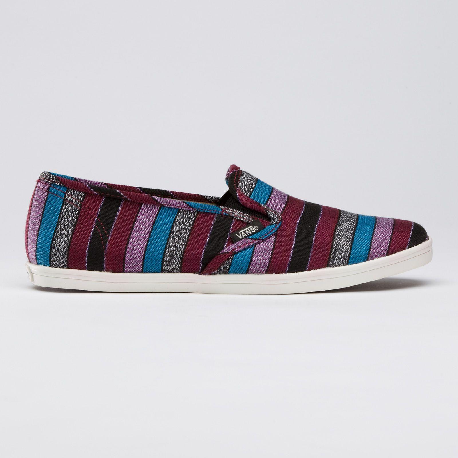 d4330313f07fd3 Guate Stripe Slip-On Lo Pro in black. Vans