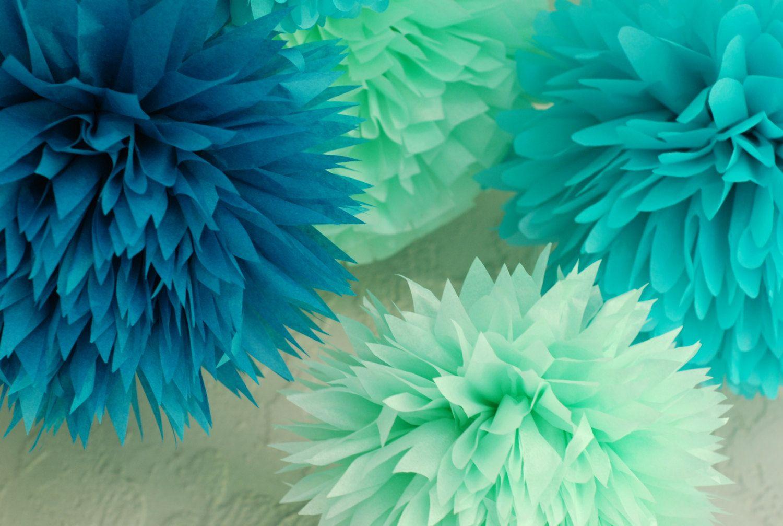 Etsy Product | Pom pom decorations, Mermaid birthday and Mermaid parties