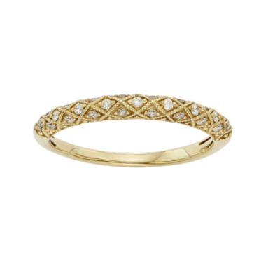 1/6 CT. T.W. Certified Diamond 14K Yellow Gold Wedding Band  found at @JCPenney