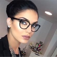 Photo of Womens Sexy Vintage UV400 Spectacle Square Glasses Frame Computer Gaming Clear Lens Anti-UV Anti Blue Light Rivet Eyeglasses