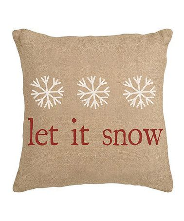Take a look at this \u0027Let It Snow\u0027 Burlap Pillow Sham by Secretly Savvy