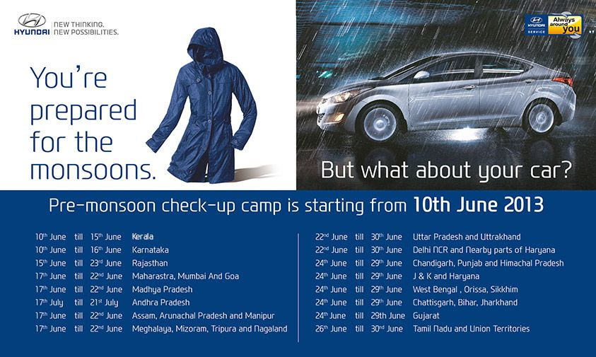 Enjoy Your Monsoon Drive Rather Than Worrying About Your Car Head Down To Your Nearest Pre Monsoon Check Up Camp Today Monsoon Pre No Worries