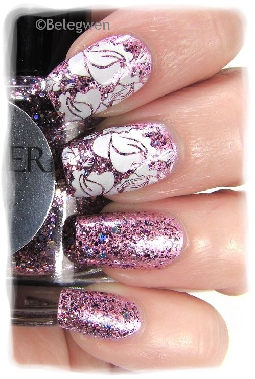 Nail Art by Belegwen: Shimmer Polish: Karen