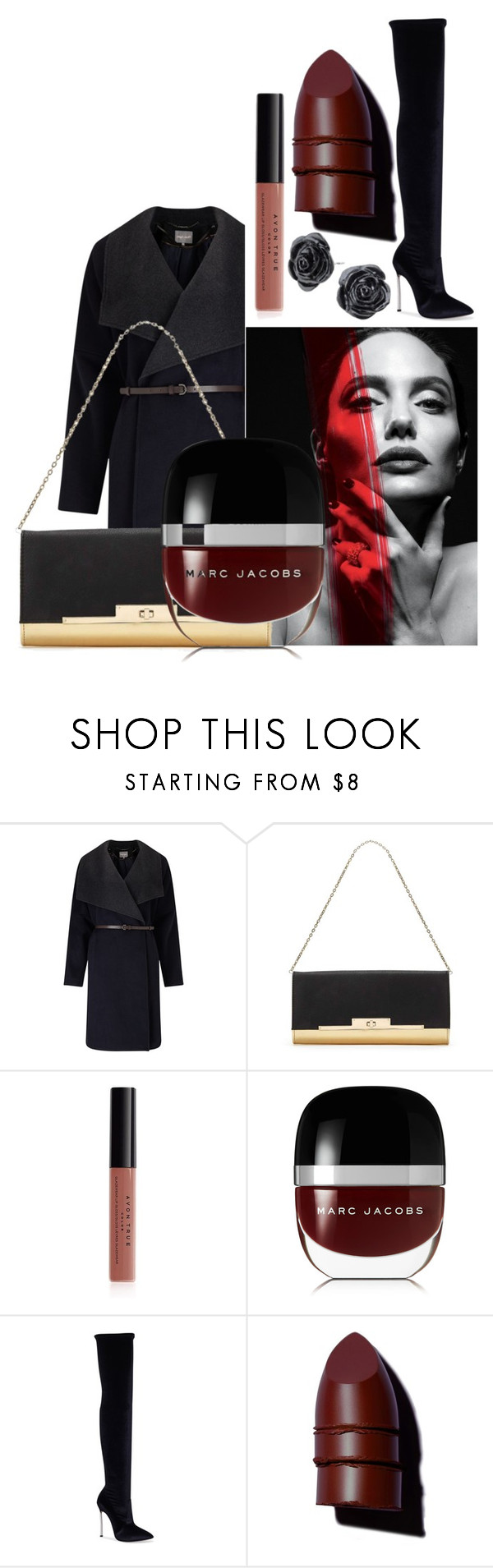 """Untitled #6242"" by mariaisabel701 ❤ liked on Polyvore featuring Phase Eight, Miss Selfridge, Avon, Marc Jacobs, Casadei and Anastasia Beverly Hills"