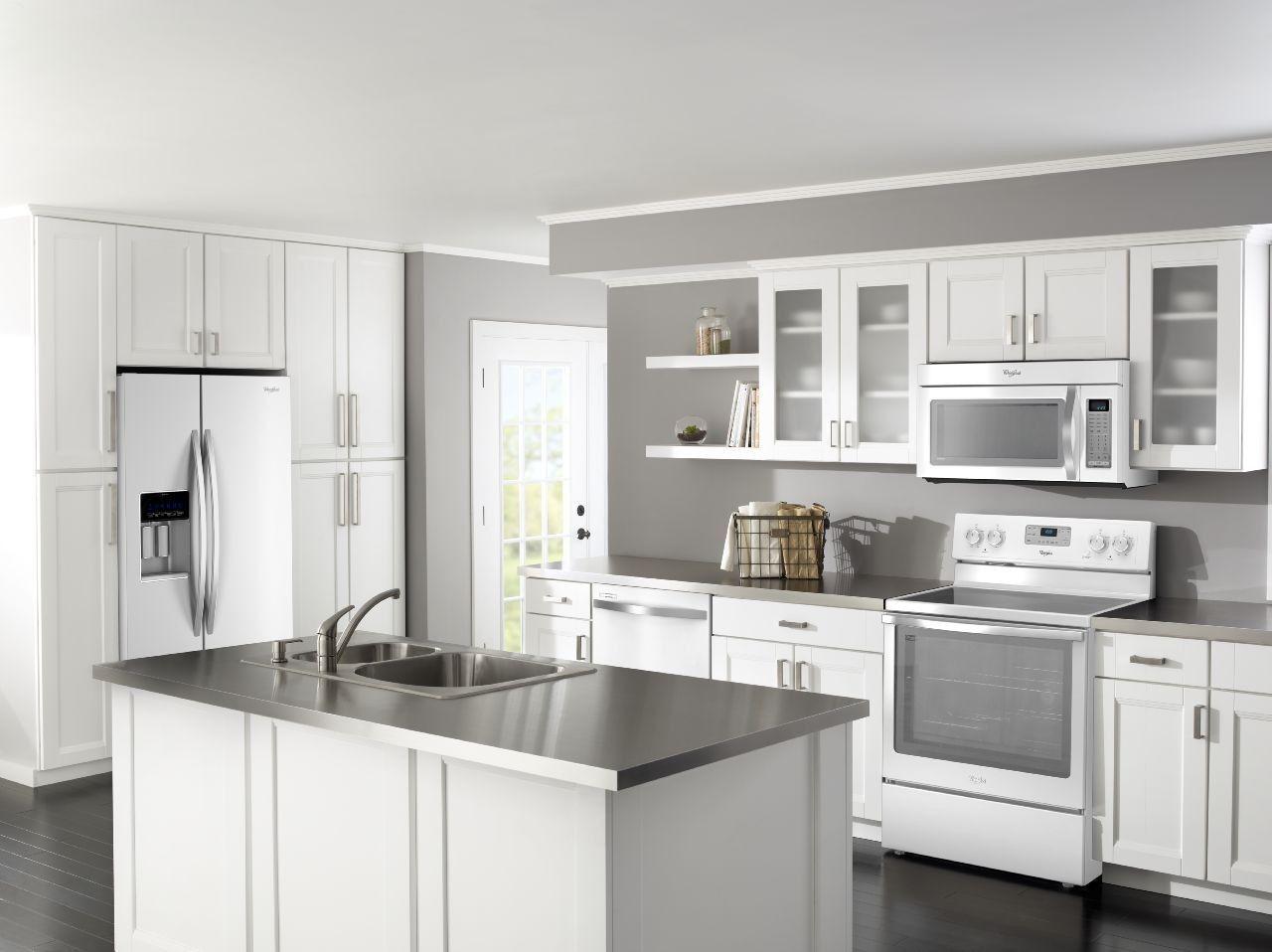 White Kitchen White Appliances Photos Google Search White Kitchen Appliances Kitchen Design Trends White Appliances